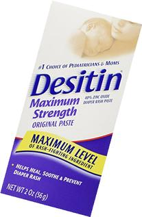 Desitin Diaper Rash Ointment Zinc Oxide Original 2 OZ