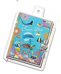 Diary with Lock & Keys Design Lenticular Ocean Blue