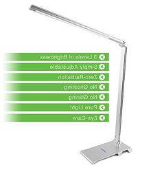 Infinilla Dimmable LED Desk Lamp Sleek Foldable Metal Body