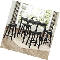 5-Piece Dining Set   INSPIRE Q Salvador Black Table with 4