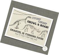 Dinosaur Birthday Invitation Boy Birthday Invite