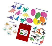 84 pc Dinosaur Kid's Birthday Party Favor Bundle Pack