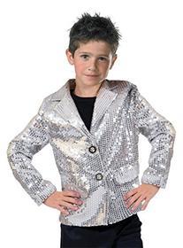 Disco Jacket Silver Child Medium Costume