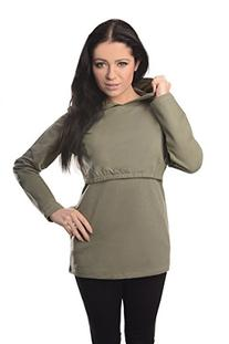 New Discreet Soft Nursing and Breastfeeding Hoodie 9051