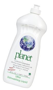 Planet Dishwashing Liquid, Free & Clear, 100% Biodegradable