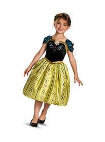Childs Girls Disney Classic Frozen Anna Coronation Gown