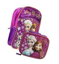 Disney Frozen Anna & Elsa Purple/Pink Backpack & Lunchbox