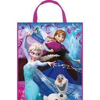 "Large Plastic Disney Frozen Goodie Bag, 13"" x 11"