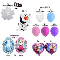 Disney Frozen Foil Balloons featuring Mylar, Elsa, Ana, Olaf