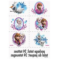 Disney Frozen 4 pack of Temporary Tattoo Sheets