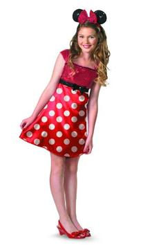 Disney Minnie Mouse Clubhouse Tween Costume, Red/White/Black
