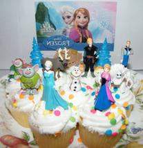 Disney Frozen Movie Figure Deluxe Cake Toppers / Cupcake