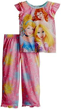 AME Sleepwear Little Girls' Disney Princess  Pajama Set,