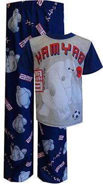 Disney Big Boys' Big Hero 6 Go Baymax 2-Piece Pajama Set,