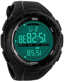 Fanmis Men's Digital Display Military Sports Watch with