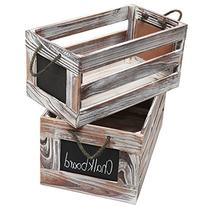 Distressed Torched Wood Finish Nesting Boxes / Rustic