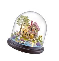 Cuteroom DIY Mini Glassball Wooden Dollhouse Miniature Kit