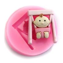 Pro Base DIY Mold Mini Swing Baby Silicone Fondant Sugar