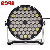 Eyourlife 8pcs 54X3W LED DJ PAR Light RGBW 162Watt DMX 512