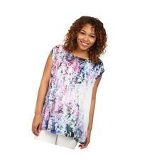 DKNY Jeans - Plus Size Sunset Florals Print Crossover Back