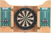 DMI Bristle Dartboard in Oak Finish Cabinet
