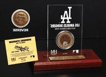 Dodger Stadium Infield Dirt Commemorative Coin Etched