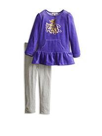 Juicy Couture Girls Dog Logo Velour Top Tunic & Leggings Set