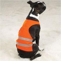 Dog Safety Vest - Bright Orange Reflective Safety Vest - X-