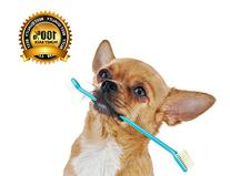 Dog Toothbrush Set with Two Dual Double Headed Toothbrushes