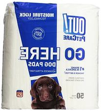 OUT! Dog Training Pads with Moisture Lock