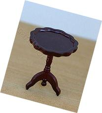 Dollhouse Miniature Mahogany Piecrust Side Table