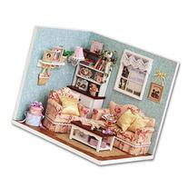 Cuteroom Dollhouse Miniature DIY Wood Kit Dolls house with