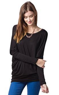 Dolman Long Sleeve Rayon Jersey Top