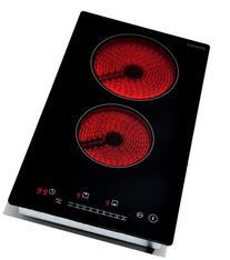 K&H Domino 2 Burner Electric Radiant Ceramic Cooktop 220V