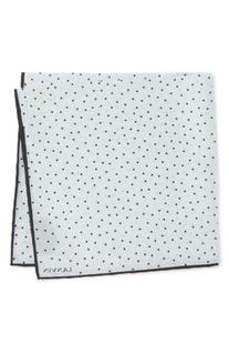 Men's Lanvin Dot Silk Pocket Square, Size One Size - Grey