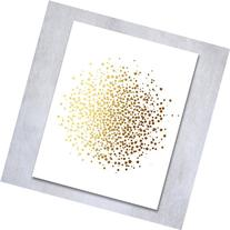 "Dots Abstract Gold Foil Art Print 8x10"" or 5x7"" Cluster of"