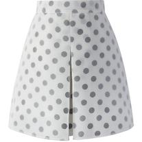 Chicwish Dots My Fav Bud Skirt in White