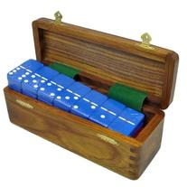 Marion Double 6 Dominoes in Wood Case