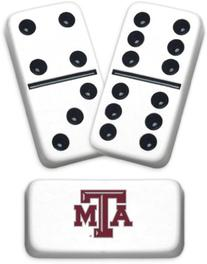Professional Size Double 6 Texas A&M University Dominoes