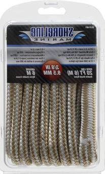 Shoreline Marine Double Braided Nylon Dock Line, 3/8-Inch x