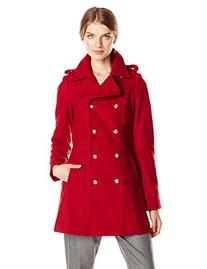 Via Spiga Women's Double Breasted Military Wool Coat with