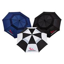 "Woodworm Double Canopy 60"" 3 Pack of New Golf Umbrellas"