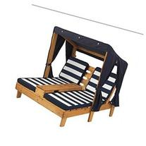 Kidkraft Double Chaise Lounge Navy/White Modern Style for