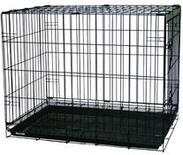 YML Double Door Dog Kennel Cage with Plastic Tray No Bottom