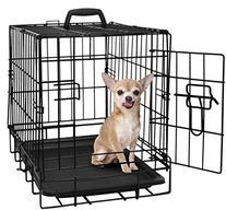 "OxGord 20"" Small Dog Crate, Single-Door Folding Metal w/"