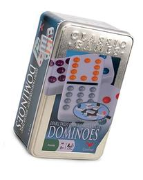 Cardinal Double 12 Color Dot Dominoes in Collectors Tin