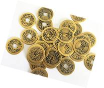 Derker 50 Pack Double Dragon Chinese Good Luck Coins,Shui I-