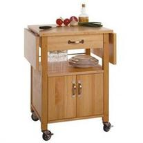 Winsome Wood Double Drop Leaf Kitchen Cart - Cabinet W/