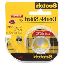 3M Double-Sided Tape with Dispenser, Permanent, 1/2 X 250