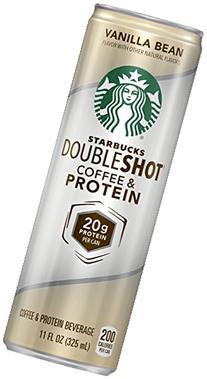 Starbucks Doubleshot Coffee and Protein, Vanilla Bean, 11
